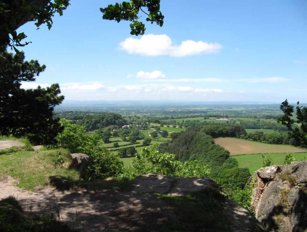 A view across the Cheshire plain to Wales, by www.paulhoughton.co.uk