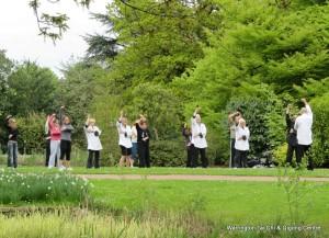 Group doing: patting the meridans Qigong